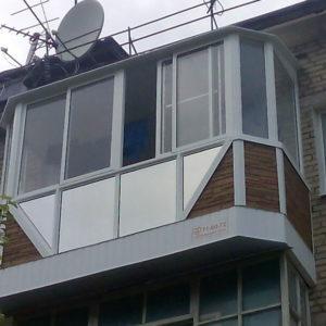 Отделка балконов на последнем этаже